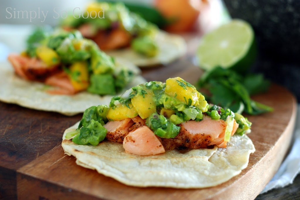 9 5 - Salmon Tacos with Grilled Peach Guacamole in 30 minutes...or less