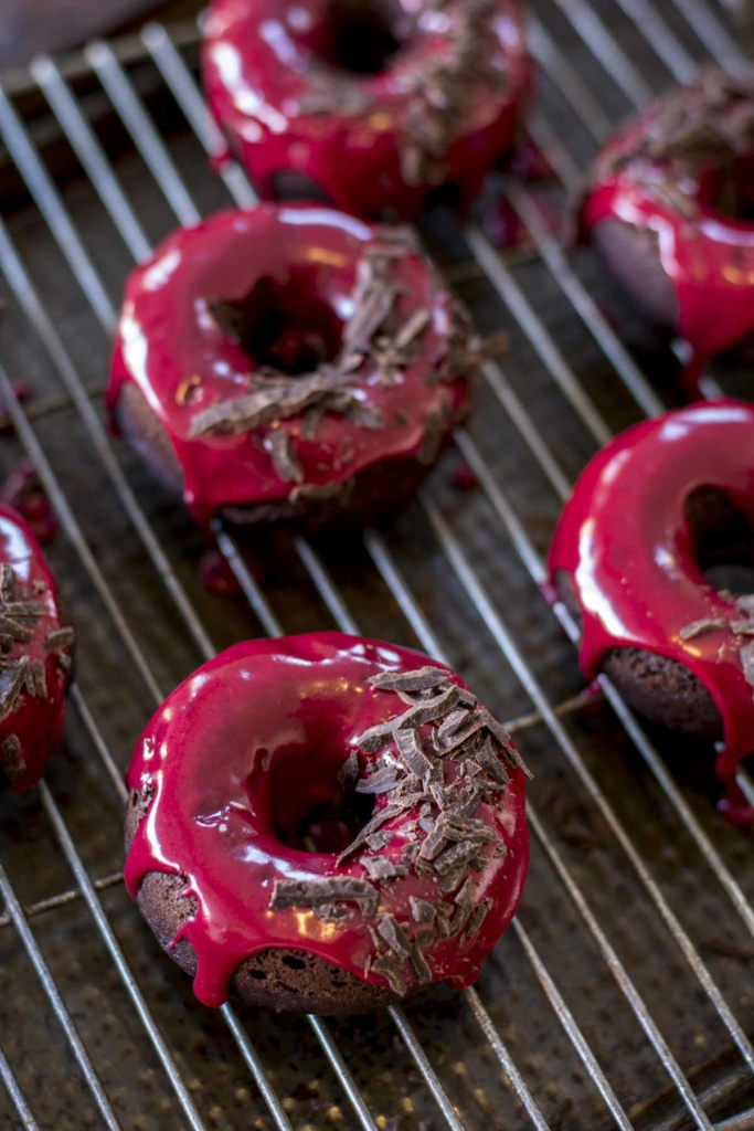 untitled 18 683x1024 - Chocolate Baked Doughnuts with Beet Blood Glaze