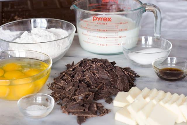1 2 - Dark Chocolate Crepe Cake Step # 1