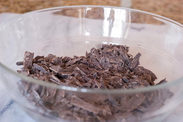 10 1 - Dark Chocolate Crepe Cake Step # 3 Chocolate Ganache