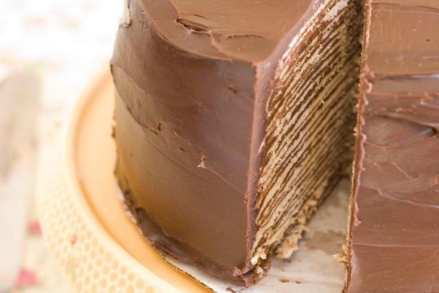 2 1 - Dark Chocolate Crepe Cake Step # 3 Chocolate Ganache