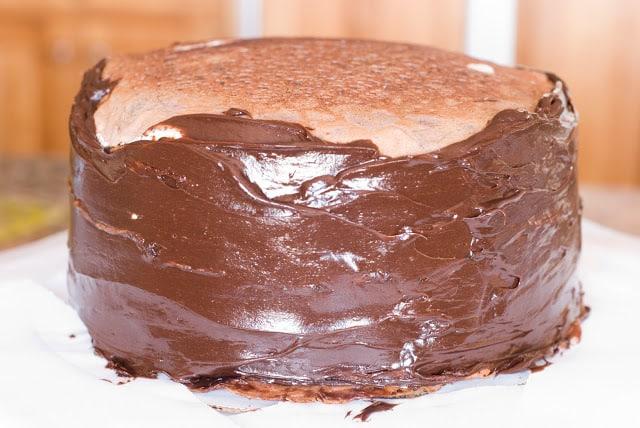 23 - Dark Chocolate Crepe Cake Step # 3 Chocolate Ganache