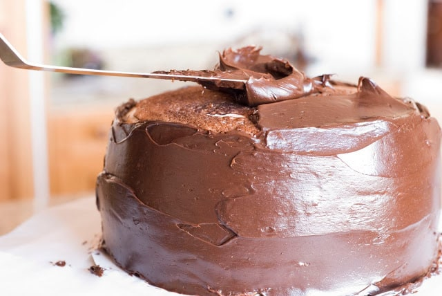 26 1 - Dark Chocolate Crepe Cake Step # 3 Chocolate Ganache