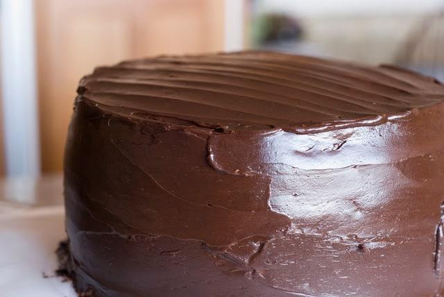 27 1 - Dark Chocolate Crepe Cake Step # 3 Chocolate Ganache