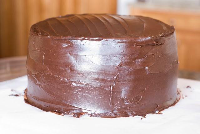 28 - Dark Chocolate Crepe Cake Step # 3 Chocolate Ganache