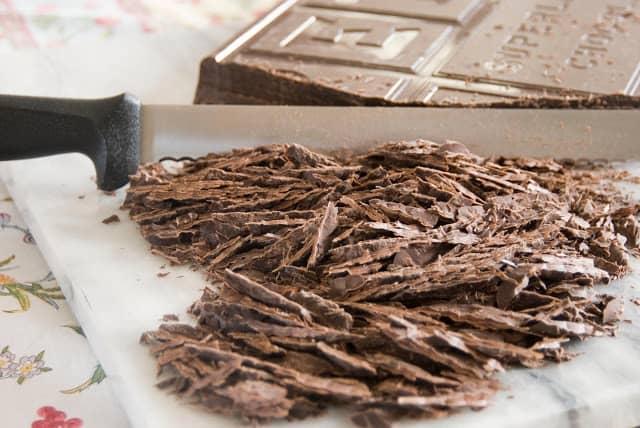 5 1 - Dark Chocolate Crepe Cake Step # 3 Chocolate Ganache