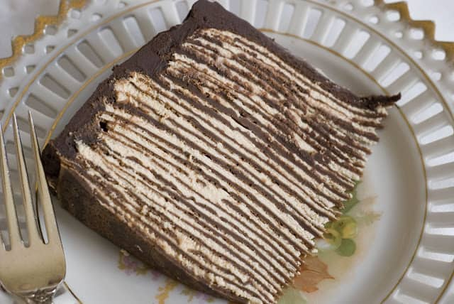 Dark Chocolate Crepe Cake 1 - Dark Chocolate Crepe Cake Step # 1