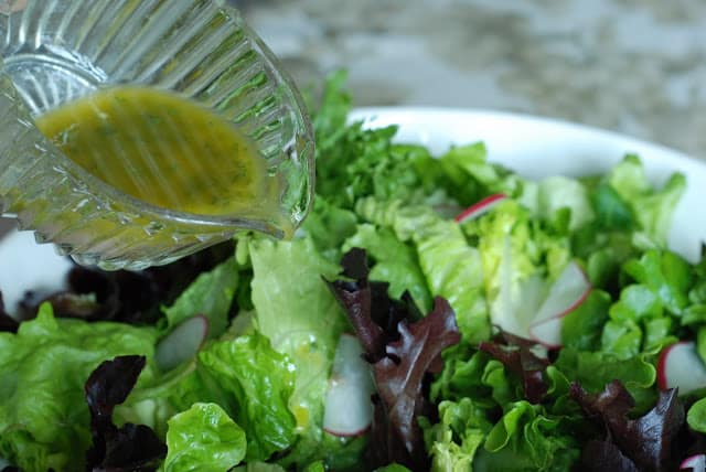 31 4 - Spring Salad with French Vinaigrette and Lemon Garlic Dressings