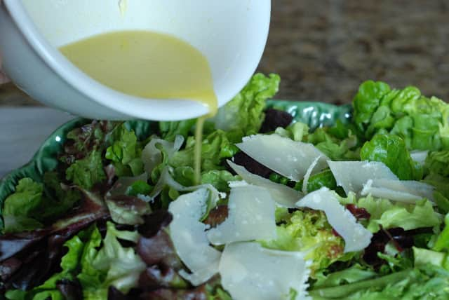 47 1 - Spring Salad with French Vinaigrette and Lemon Garlic Dressings