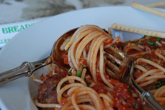 47 - Stuffed Meatballs and Spaghetti