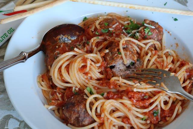 49 - Stuffed Meatballs and Spaghetti