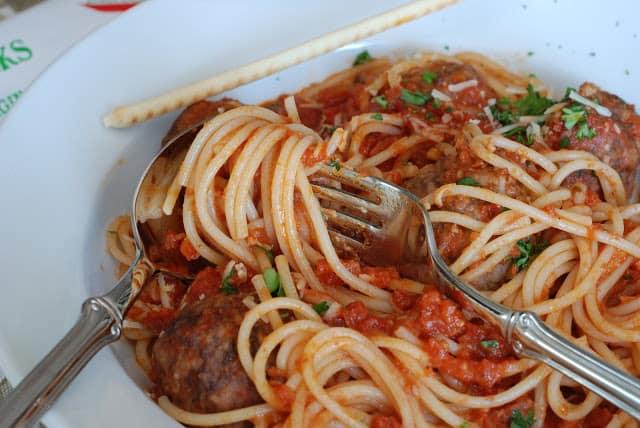 50 - Stuffed Meatballs and Spaghetti