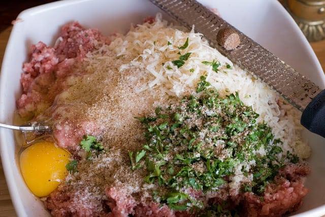 7 2 - Stuffed Meatballs and Spaghetti