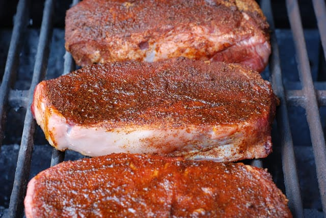 18 2 - Ancho Chile Rubbed Steaks with Cuban Sauce