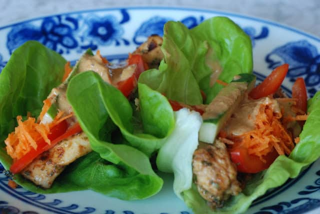 45 2 - Thai Chicken Wraps