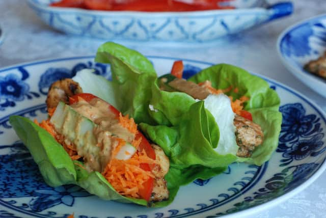 46 1 - Thai Chicken Wraps