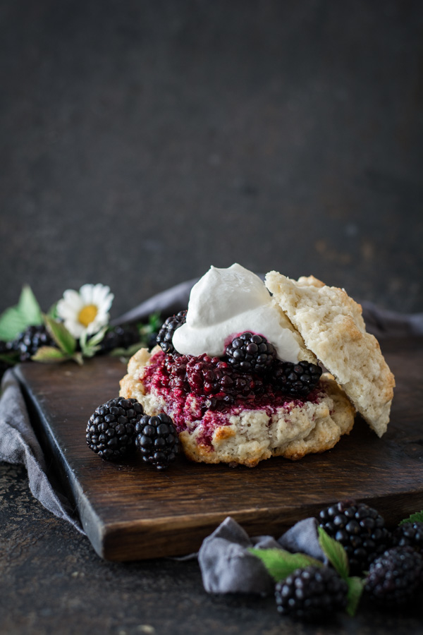 Rustic Blackberry Shortcakes