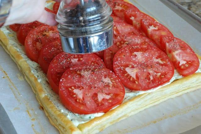 42 2 - Fresh Tomato and Basil Tart