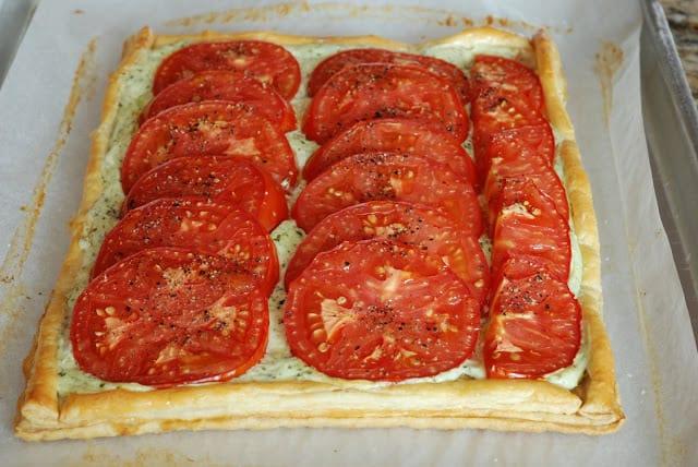 49 1 - Fresh Tomato and Basil Tart