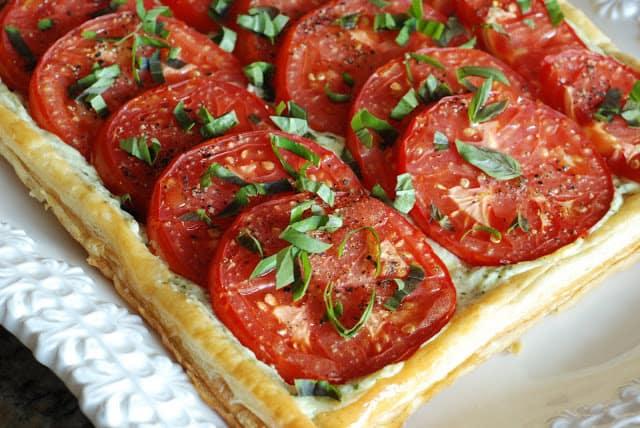 53 1 - Fresh Tomato and Basil Tart