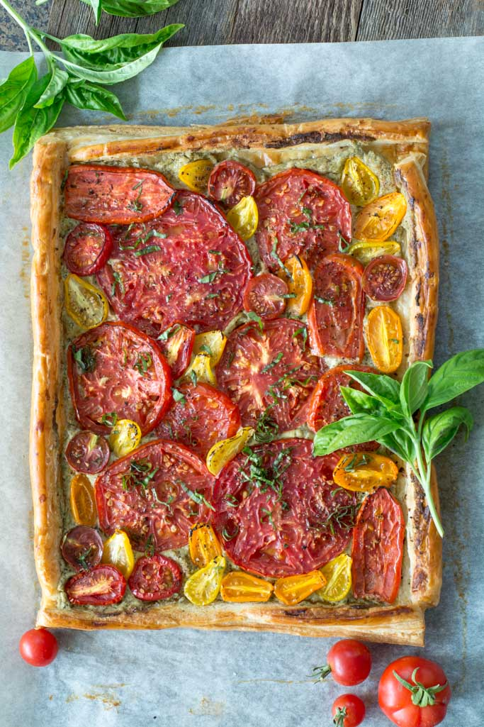 DSC 0613 - Fresh Tomato and Basil Tart
