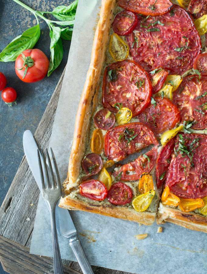 Fresh Tomato and Basil Tart