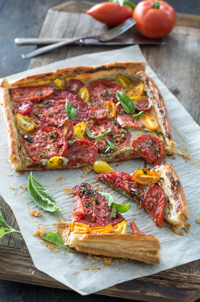 DSC 0670 - Fresh Tomato and Basil Tart