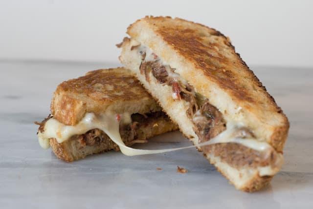 Itallian Beef Fontina 1 - Italian Beef Fontina Sandwiches