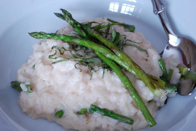 Risotto with Mascarpone, Fontina and Grilled Asparagus