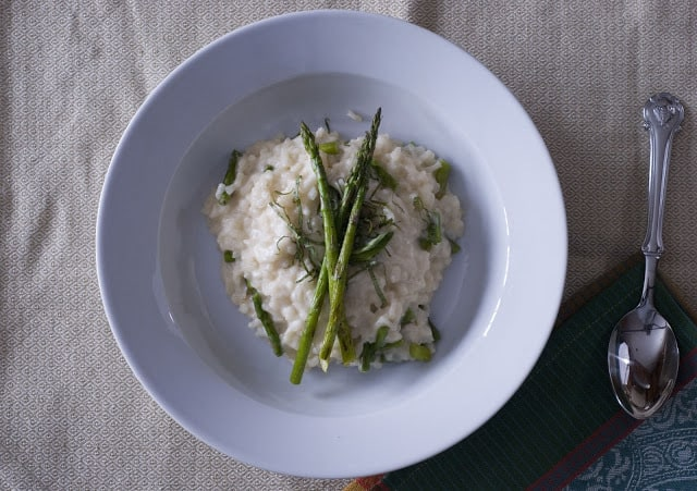 Risotto cropped - Risotto with Mascarpone, Fontina and Grilled Asparagus