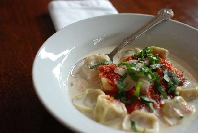 1 - Cheese Tortellini in Cream Sauce