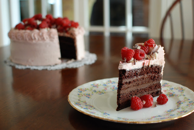1 1 - Chocolate Layer Cake with Raspberry Buttercream