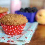 1 2 150x150 - Blackberry Peach Lavender Muffins