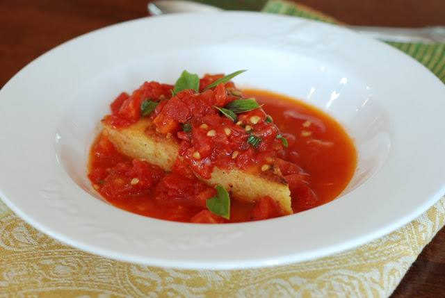 1a - Rosemary Polenta with Sauteed Tomatoes