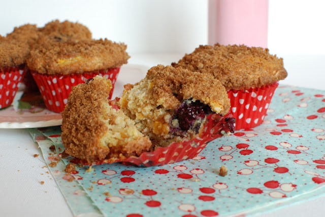 33 4 - Blackberry Peach Lavender Muffins