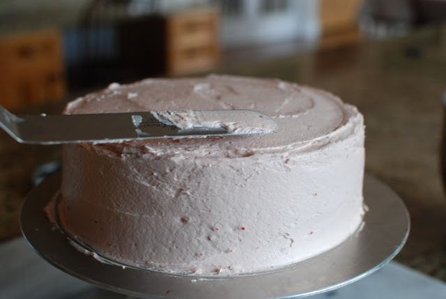 34 2 - Chocolate Layer Cake with Raspberry Buttercream