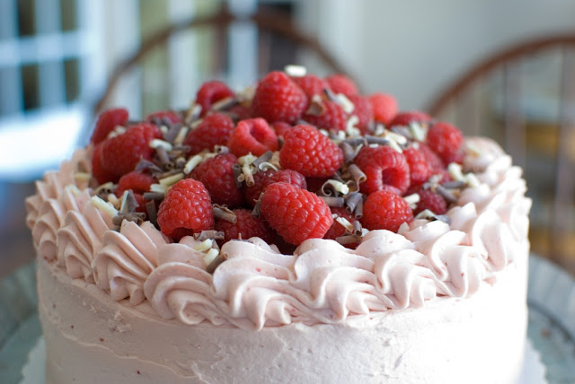 40 2 - Chocolate Layer Cake with Raspberry Buttercream