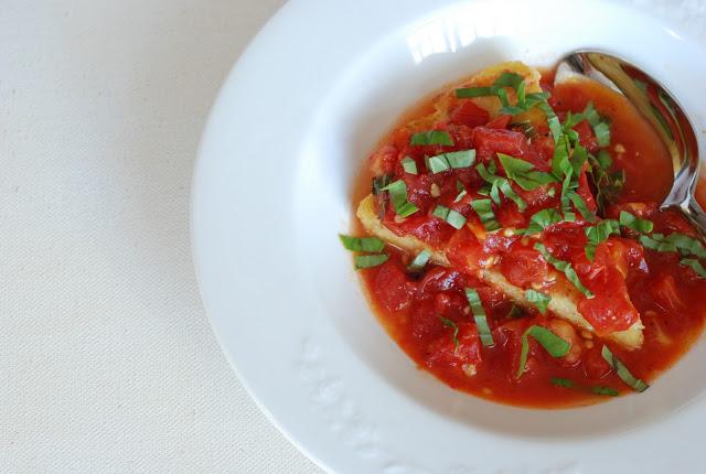 Rosemary Polenta 354 - Rosemary Polenta with Sauteed Tomatoes