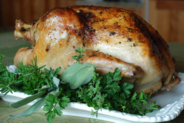 Roast Turkey with Cider Thyme Gravy