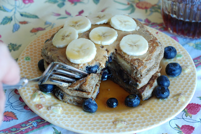 Blueberry Banana pancakes - Christmas Morning Breakfast Ideas