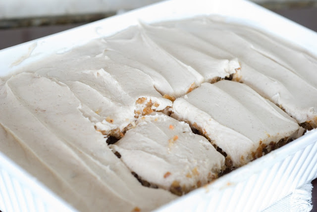 48 1 - Carrot Cake with Buttermilk Glaze and Cinnamon-Cream Cheese Icing