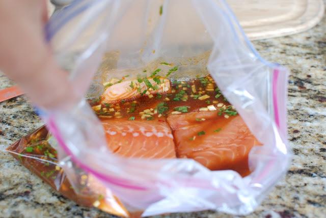 17 - Soy Orange Glazed Grilled Salmon with Fresh Pineapple Salsa