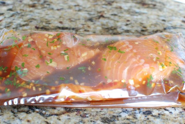 18 - Soy Orange Glazed Grilled Salmon with Fresh Pineapple Salsa