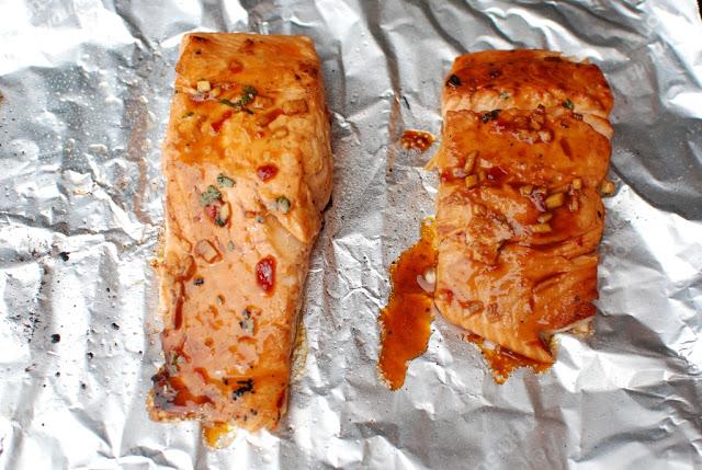 40 - Soy Orange Glazed Grilled Salmon with Fresh Pineapple Salsa