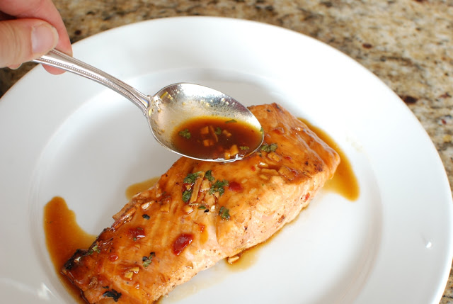 41 - Soy Orange Glazed Grilled Salmon with Fresh Pineapple Salsa