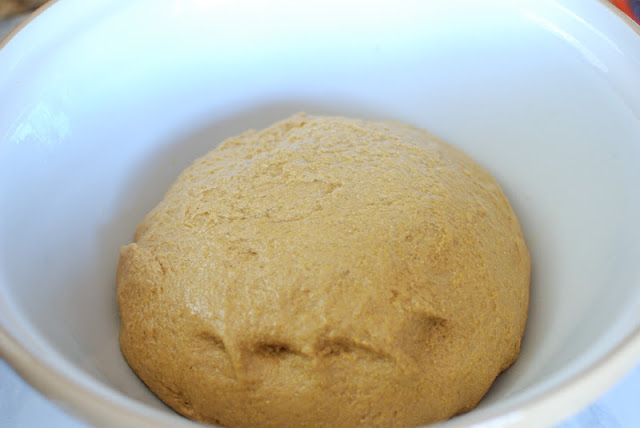 Bread dough in bowl