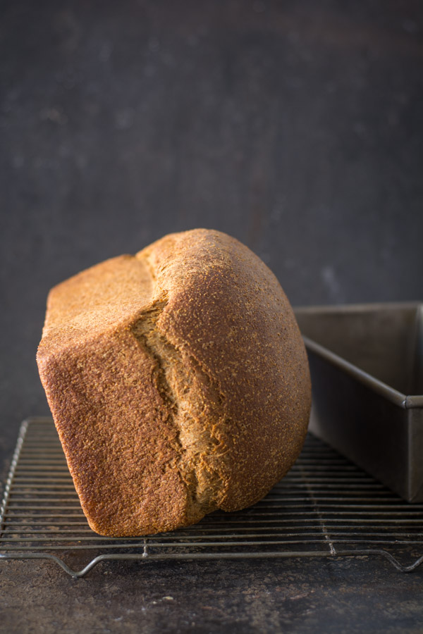 Bread on its side