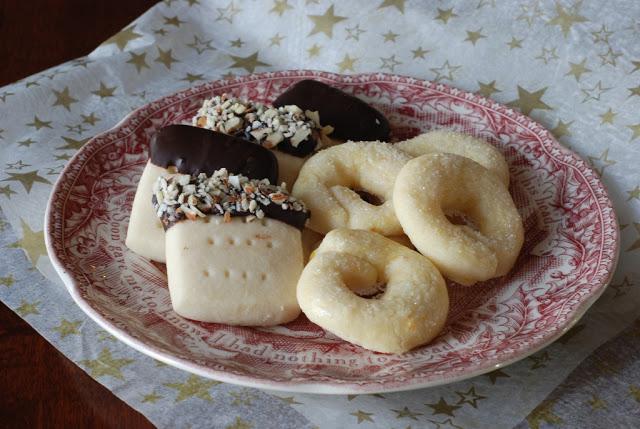 17 1 - Christmas Cookie Exchange:  Scotch Shortbread and Berlinerkranser