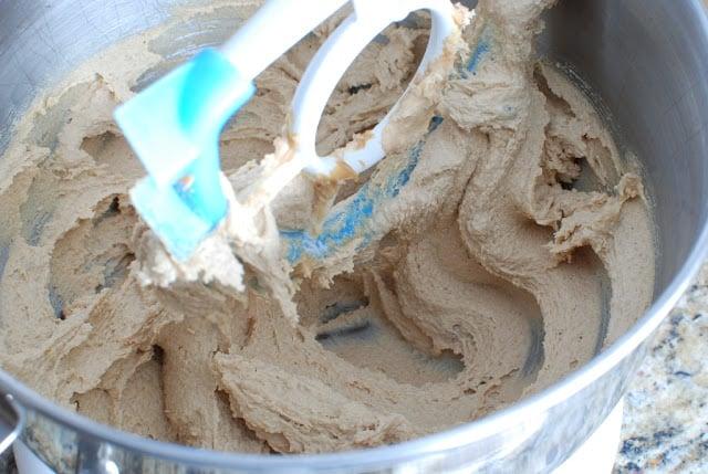 creamed peanut butter sugar mixture