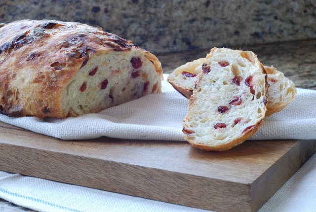 22 2 - Cranberry Orange Almond Artisan Bread and a post to gather your favorite Artisan Bread creations